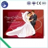 China Customized Design 3D PP Lenticular Wedding Card Greeting Card for sale