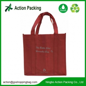 China Non Woven Wine Tote Bags for Bottles with Custom Print, Reusable Wine Bags on sale