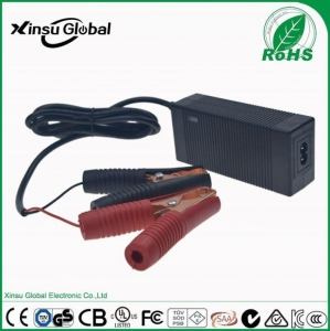 China Universal 12V Volt Lead Acid Battery Motorcycle Charger with 14.6V 4A Output on sale