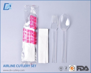 China Best Rated Best Quality Cheap Airline Transparent Cutlery Sets for Sale on sale