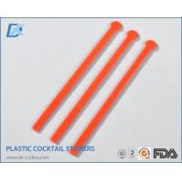 China Black Plastic Bar Cocktail Drink Stirrers on sale