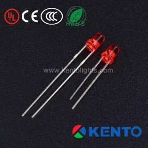 China 2 Pins 3mm Dip LED Emitting Red Diode with Red Transparent Lens on sale
