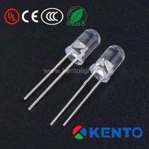 China High Bright Round Yellow Flashing 3mm LED Diode 500-1000mcd on sale