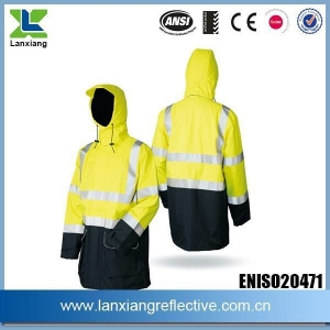 China Winter Safety Uniform Waterproof Reflective Seam Sealing Tape Rain Wear Jackets on sale
