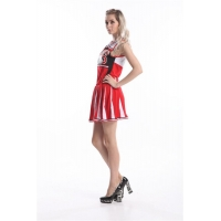 Ladies Glee Sandy Cheerleader 50s Fancy Dress Costume Adult Rock Roll Outfit