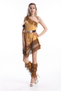 China Red Indian Costume Princess Pocahontas Halloween Fancy Dress on sale