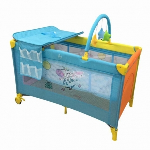 China Portable Playpen Pack'n Play Playard Trave Cot With Toy Bar With Changing Table on sale