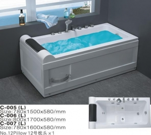 China Hot Selling Jet Massage Whirlpool Bathtub with Small Sitting on sale
