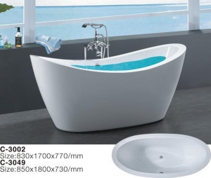 China Factory Price Solid Artificial Marble Surface Bathtub, Bathtub Manufacturer on sale