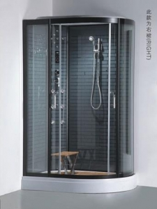 China Simple Shower Cabin with Coating Tempered Glass Low Tray Shower Room Cabin on sale
