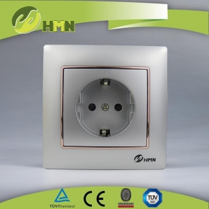 China Electrical Wall Sockets TUV Electric Sockets Victorious with Decor Circel Schuko Socket on sale