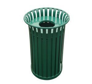 China Arlau BS06 Wrought Iron Garden FurnitureRecycling Bins For SchoolsSteel Recycle Bins on sale