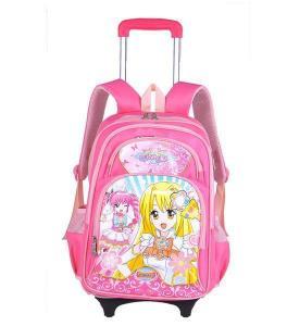 China Popular Cartoon Fashion Kids School Trolley Bags for Girls on sale