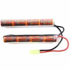 China NiMH 9.6V Mini 1600mah airsoft battery pack nunchuck mini tamiya for airsoft gun 9.6V 1600mah on sale