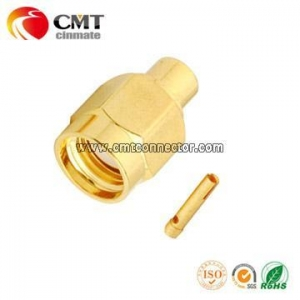 China Reverse SMA Plug Connector Solder for RG402 on sale