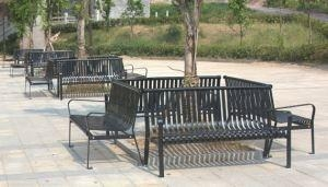 China Arlau FS13 Metal Outdoor Furniture, No Folding Outdoor Bench, Metal Street Furniture on sale