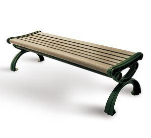 China Arlau FW02 Wooden Bench, Wood Garden Bench, Antique Park Benches on sale