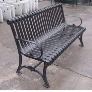 China Outdoor Galvanized Steel Metal Benches on sale