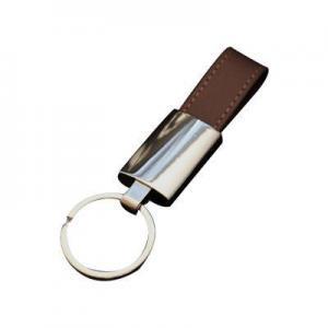 China Personalized Logo Genuine / Pu Leather Keychain on sale
