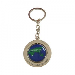 China Printing Sticker Rotatable Keychains on sale