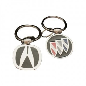 China Hard Enamel Car Logo Keyrings/keychains on sale
