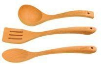 China HOT Sell Beech Wood Spoon Ladle and Turner Utensils Set on sale