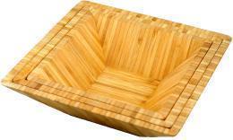 China 2017 TOP SELL Custom Wholesale Square Bamboo Salad Bowl Set on sale