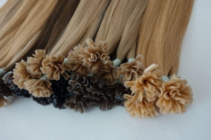 China Remy Double Drawn Ombre Grey Nano Bead Hair Extensions on sale