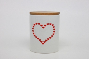 China Heart Shape Decal Appliqued Canister Sets on sale