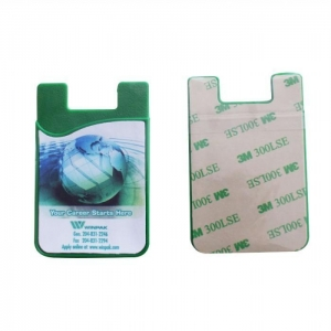 China Business Credit Card Holder Back of Cell Phone in Silicone Material on sale