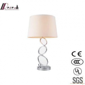 China Simple White Chrome Glass Mini Table Lamps for Living Room on sale