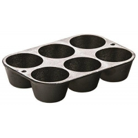 China Lodge L5P3 Cast Iron Cookware Muffin/Cornbread Pan, Pre-Seasoned on sale