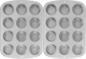 China Wilton Recipe Right Nonstick 12-Cup Regular Muffin Pan (2, STANDARD) on sale