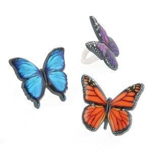 China Butterfly Cupcake Rings - (24-Pack) on sale