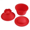 China Agile-shop 3 Pack Giant Big Silicone Cupcake Cake Mould Top Cupcake Bake Set Baking Mold for sale