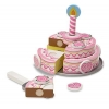 China Melissa & Doug Triple-Layer Party Cake Wooden Play Food Set for sale