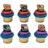 China Superhero Rings For Cupcakes. Pack of 24 assorted plastic rings.. Pack of 24 assorted plastic rings. for sale