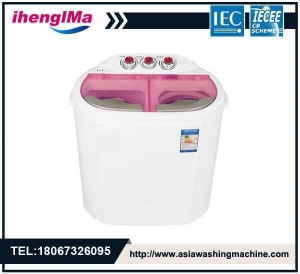 China Mini Small Baby Twin Tub Semi-Automatic Washing Machine Washing Capacity Is 2.5kg on sale