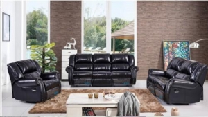 China Black leather sofa recliner 880 on sale