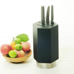China black kitchen knife block on sale