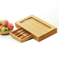 China bamboo desktop document organizer on sale