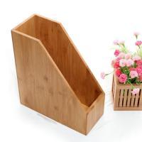 China bamboo desktop stationary organizer box on sale