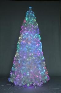 China Item  SYT76G006/7.5FT Led pre-lit Fiber optical Dancing Artificial Christmas Slim Tree on sale