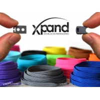 xpand shoelaces wholesale DARK BLUE REFLECTIVE - ONE SIZE FITS ALL
