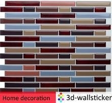 China Peel and stick self-adhesive vinyl wall tiles, multicolor 3d marble style wallpaper on sale