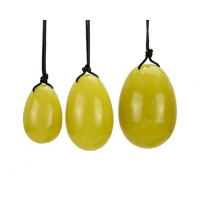 Buy Drilled Yellow Jade Egg Sets