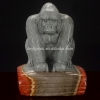 China Handcraft Polychrome Jasper Animal Orangutan Figurines for sale