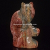 China Natural Stone Persian Cat Animal Figurines for Home Decor for sale
