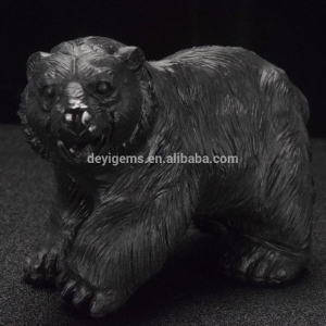 China Big Size Animals Carving Figurines Carved Gemstone Bear Craft on sale