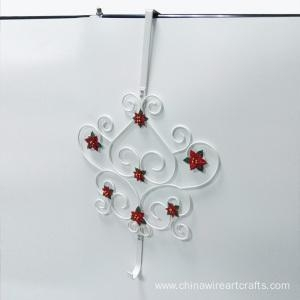 China Metal Heart Design Over Door Hook Hanger on sale